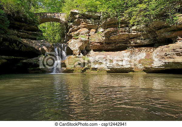 Waterfall in Woods - csp12442941