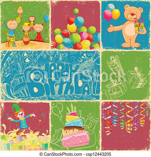 Birthday Collage - csp12443205