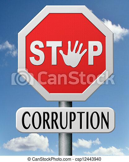 停止, 腐敗 - csp12443940