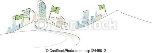 City skyline - csp12445012