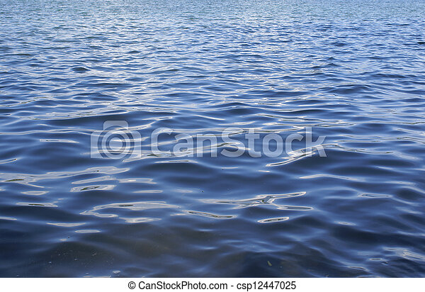 Waves in the lake water - csp12447025