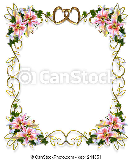 Lilies Floral Wedding Invitation  - csp1244851