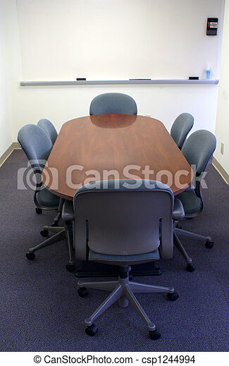 Conference table in office room. - csp1244994