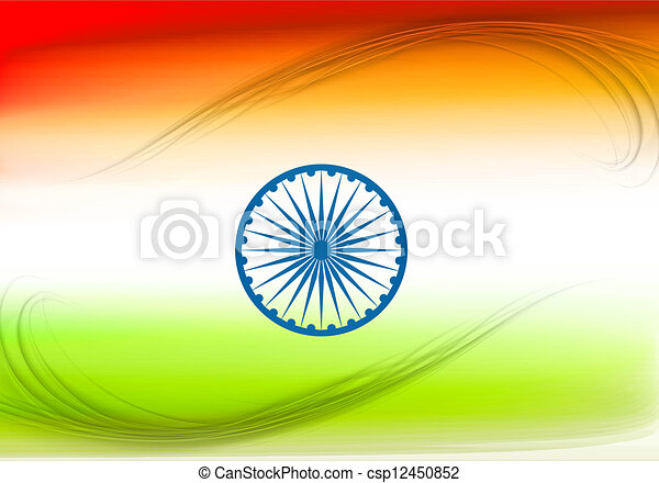 stylish indian vector flag colorful design vector illustration - csp12450852