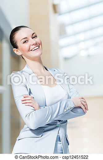portrait of a beautiful business woman - csp12451522