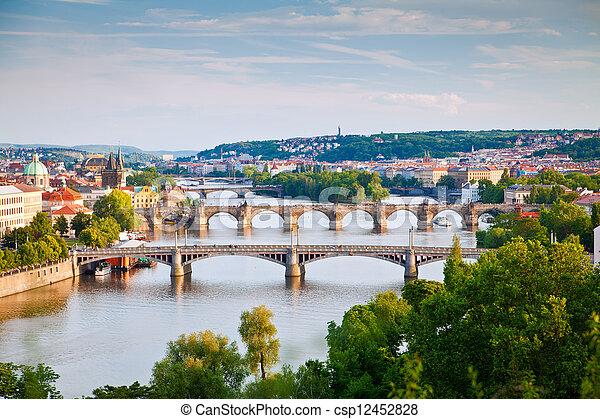Prague Bridges - csp12452828
