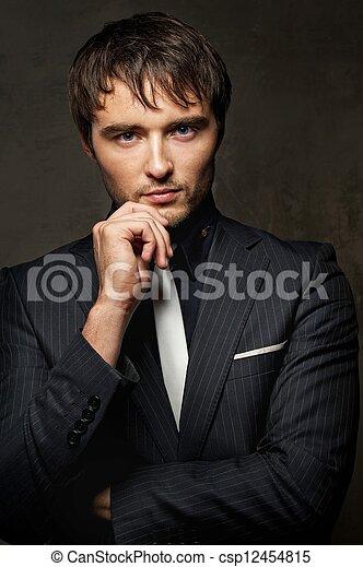 Handsome  young man. - csp12454815