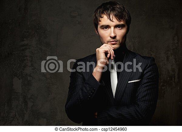 Handsome young man - csp12454960