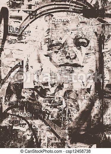 Grunge street art - csp12458738
