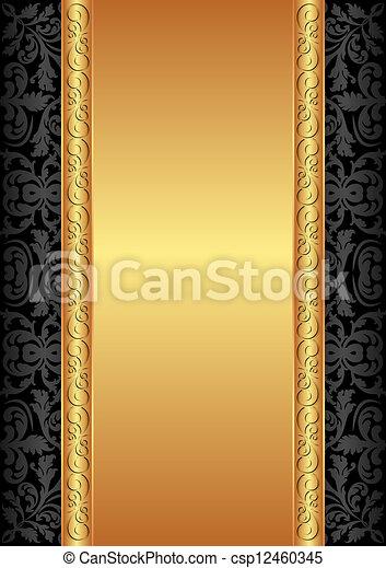 eps vektor von gold schwarz hintergrund verzierungen csp12460345 suchen sie clip art. Black Bedroom Furniture Sets. Home Design Ideas