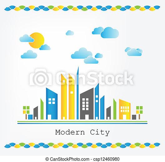Modern city landscape - csp12460980