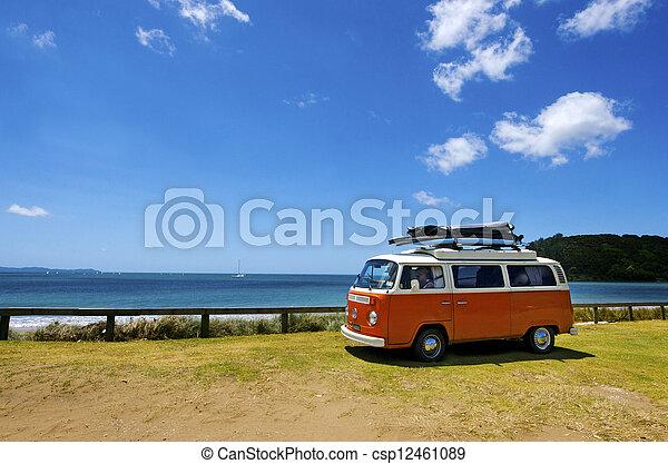kombi, klassisk, skåpbil,  volkswagen - csp12461089