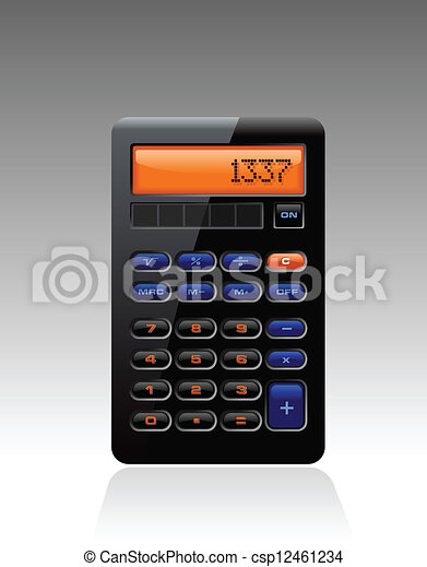 Classic Black Accounting Calculator - csp12461234