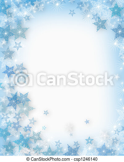 Christmas Snowflakes Background - csp1246140