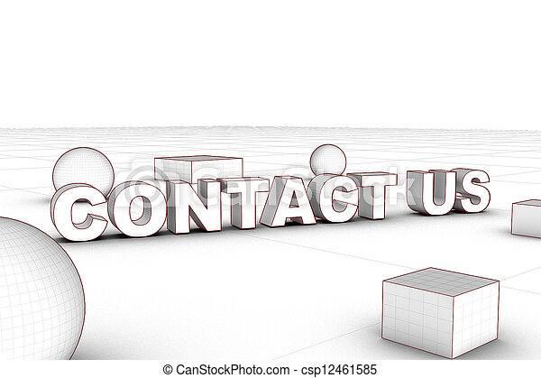 contact us with wireframe object - csp12461585