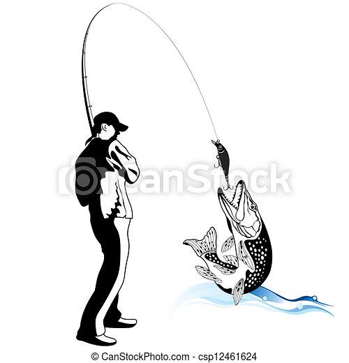 трафареты для рыбалки