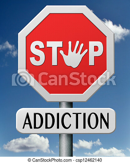 addiction  - csp12462140