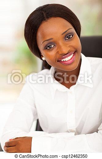 attractive african office worker  - csp12462350