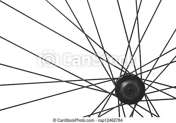 bicycle spoke detail - csp12462784