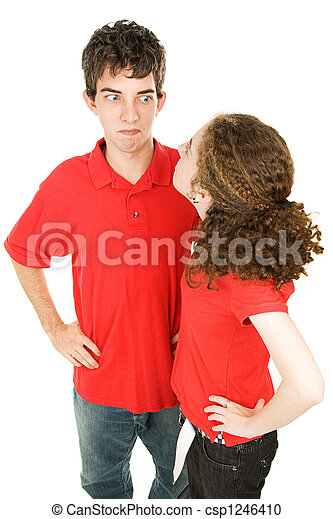 Teen Couple Arguing - csp1246410
