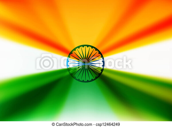 indian flag stylish design vector - csp12464249
