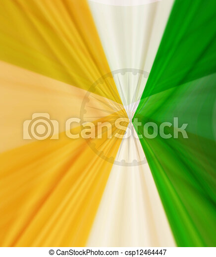 creative indian flag swirl texture wave vector design - csp12464447