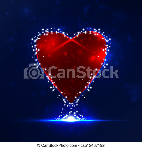 Futuristic heart, abstract background, vector illustration eps10 - csp12467192