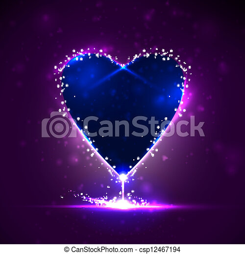 Futuristic heart, abstract background, vector illustration eps10 - csp12467194