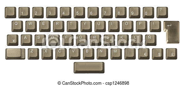 computer key in a keyboard with letter, number and symbols - csp1246898