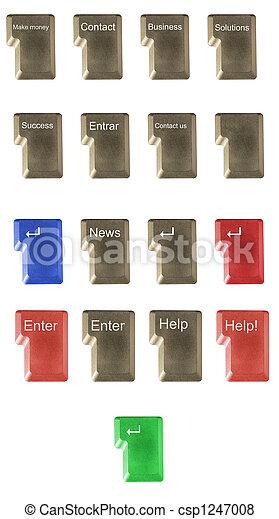 Número, SÍMBOLOS, computador, tecla, teclado, letra - csp1247008