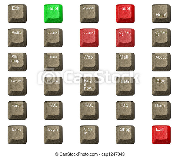 número, símbolos, computadora, llave, teclado, carta - csp1247043