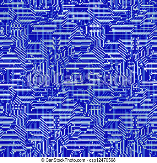 clip art vector of circuit board background  electronic circuit, wiring diagram