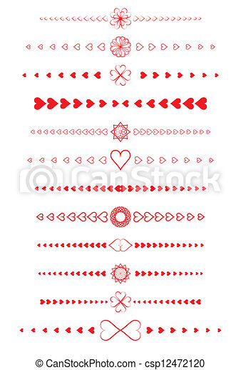 design elements made of valentines - csp12472120