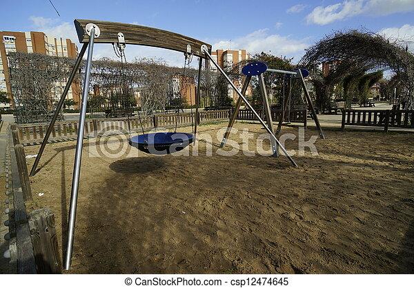 Children playground in park Moret