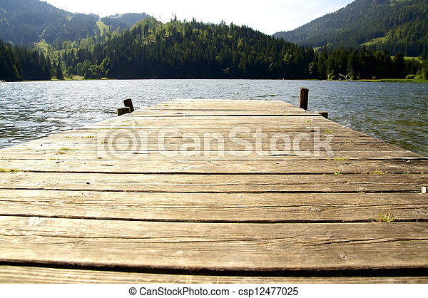 Dock in a lake - csp12477025