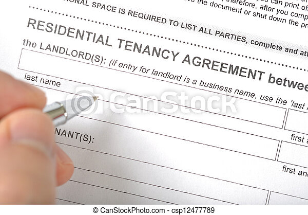 Residential tenancy agreement  - csp12477789