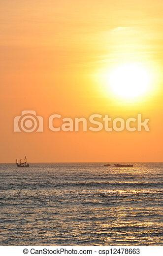 Sunset, Sanur, Bali - csp12478663