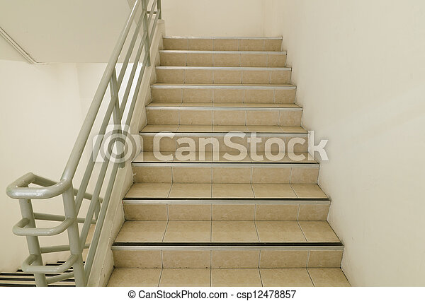 Stairwell and emergency exit - csp12478857