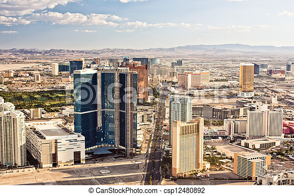 Aerial view of Las Vegas - csp12480892