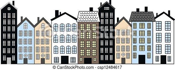 city skyline header banner - csp12484617
