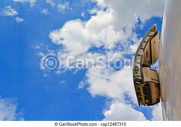 Emergency exit aeroplane, Aircraft - csp12487310