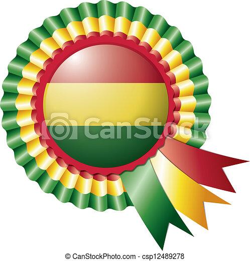 bandera,  Bolivia, escarapela - csp12489278