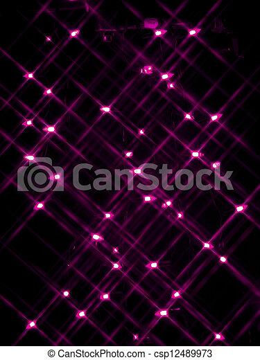 234 defocused image of pink neon lights