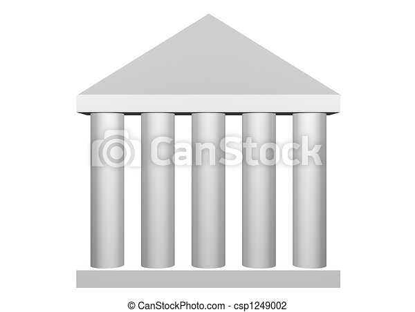 Law and Order Roman Columns - csp1249002