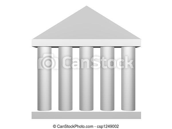 Law and Order Roman Columns - csp1249002