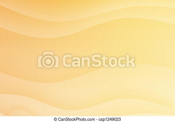 Orange Soothing Calming Curves - csp1249023