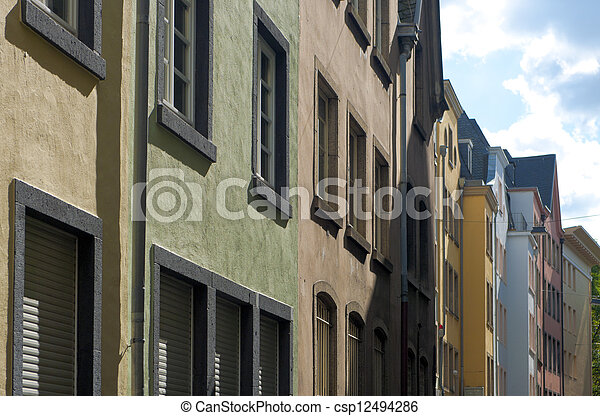 historic street - csp12494286