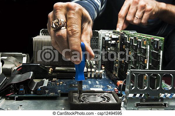 Computer repair  - csp12494595