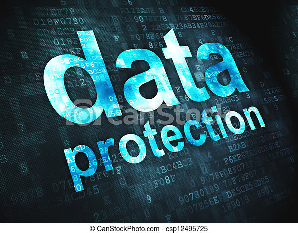 Safety concept: Data Protection on digital background - csp12495725