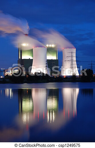 industry at night - csp1249575